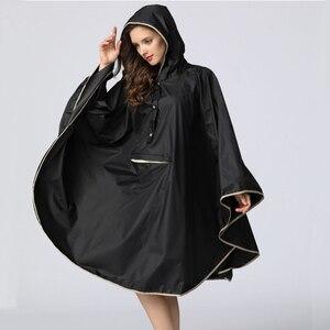 Image 2 - 1PC good quality waterproof emergency rain coat women windbreaker hooded men rain capes ponchos