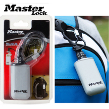 Master Lock Mini Key Safe Box Outdoor Backpack Hanging Metal Hidden Password Lock Zinc alloy Fixed Code Portable Key Storage Box
