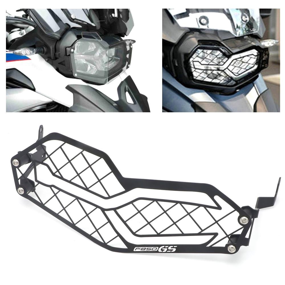 Para BMW F850GS F850 F750 GS F750GS F 750 GS 2018-2019 Motocicleta Farol Protetor Tampa Guarda Grille Grill CNC De Alumínio PVC