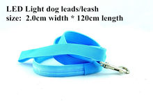 B03 2.0 cm width Pet dog LED leahses leads pet traction rope pull strap for dogs cats 120cm length battery and USB Rechargeable(China)