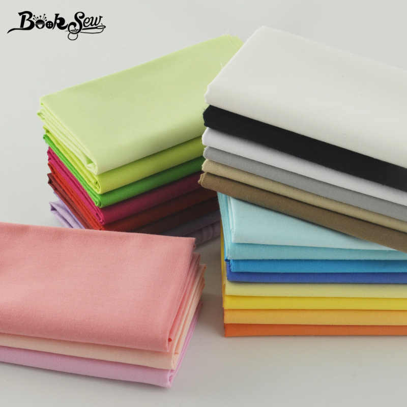 Booksew 100% Cotton Fabrics 25 Pcs Solid Colors Charm Packs Fat Quarter Home Textile For Bedding Quilting Clothing Patchwork CM
