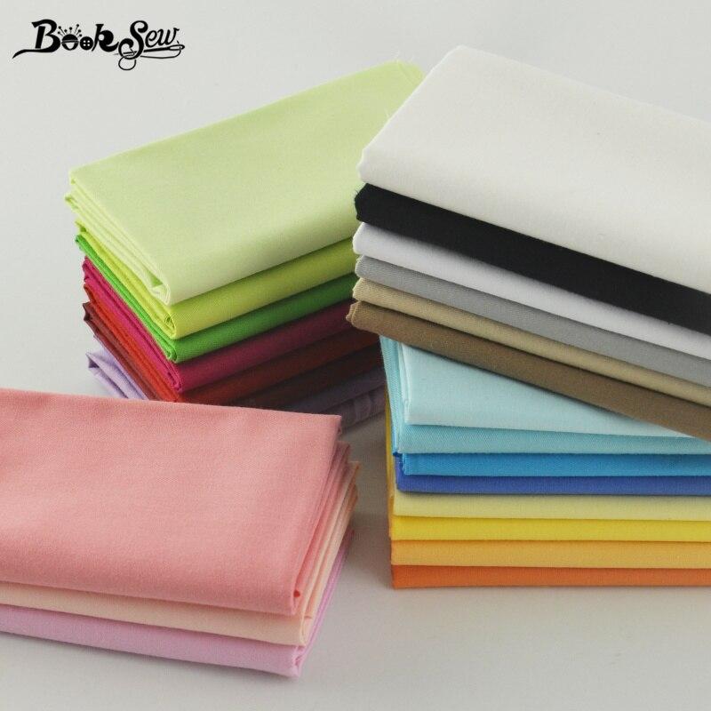 Booksew 100% хлопок, 25 шт., однотонные очаровательные пакеты, домашний текстиль для постельного белья, стеганая одежда в стиле пэчворк, см