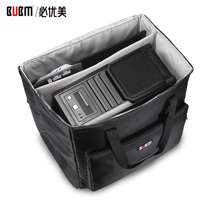 BUBM bag for computer host equipment game console bag case for screen keyboard digtal receiving storage organizer