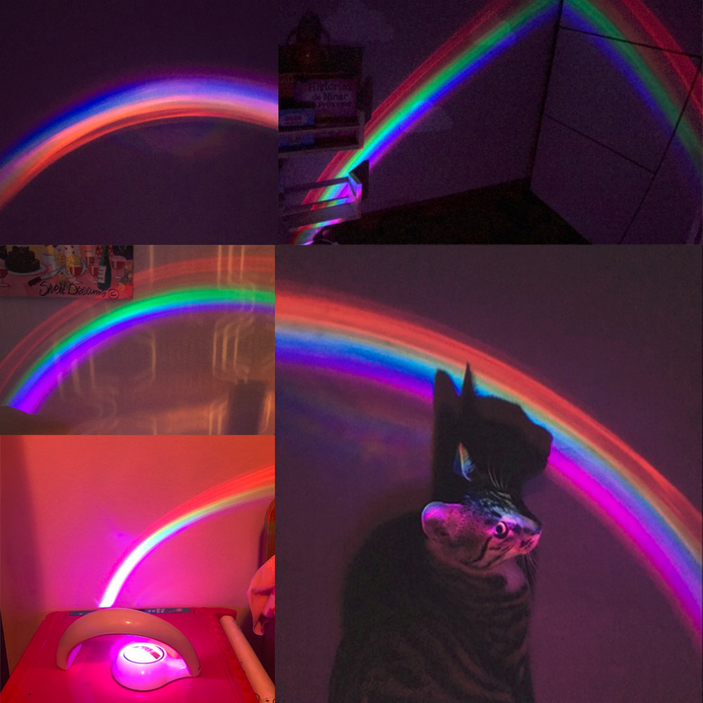 Arco iris m/ágico proyector luz proyecta un gran hermoso arco iris