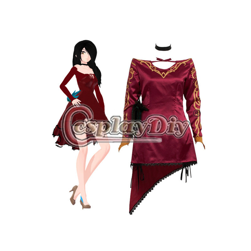 Cosplaydiy Cinder Fall RWBY Cosplay Dress For Adult Women Halloween Carnival Party Costume Custom Made D0414