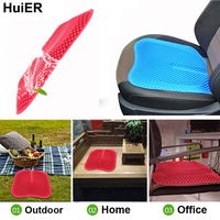 HuiER Car Seat Cushions Massage High Memory Silicone Breathable Mesh Silica Gel Auto Car Seat Covers