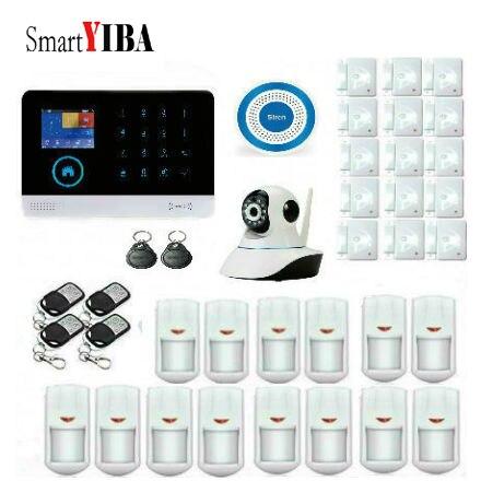 SmartYIBA Wi Fi GSM беспроводной проводной для умного дома охранный злоумышленник вор АВТО SMS приложение IP камера Поддержка дома GSM сигнализация