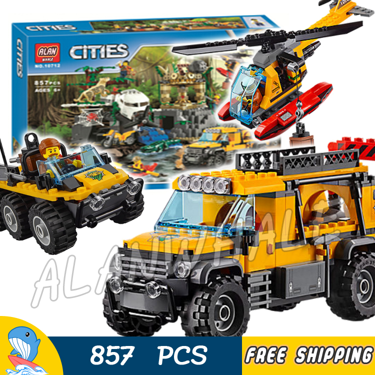 857pcs City Jungle Explorers Exploration Site Wild Animals 02061 Model Building Blocks Assemble Toys Bricks Compatible With Lego цена