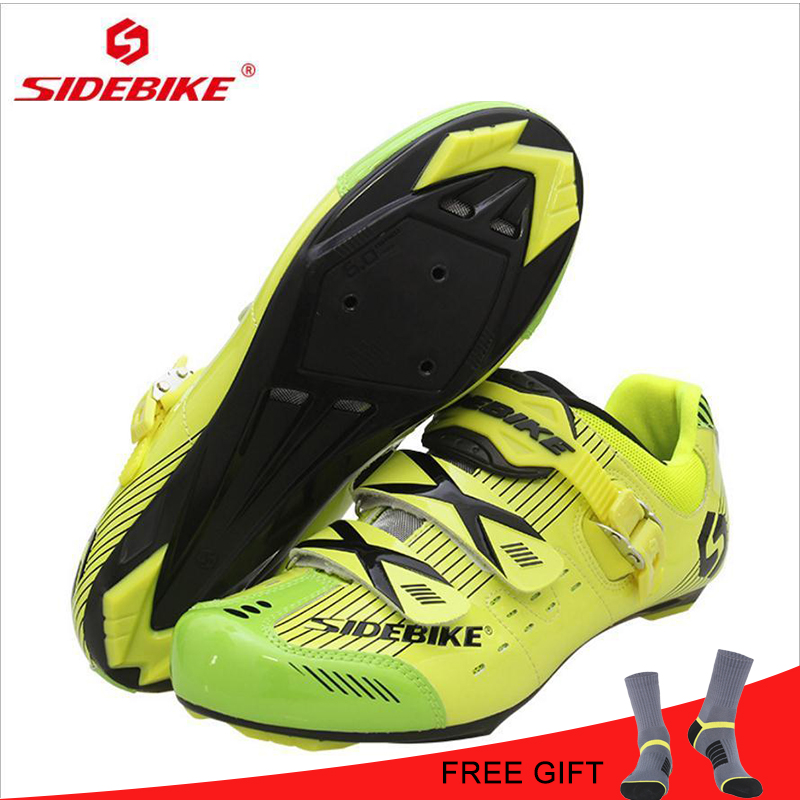 SIDEBIKE Road Shoes Men Cycling Shoes Sapatilha Ciclismo Road Bicycle Bike Racing Shoes Self-Locking Bike Shoes Bicycles Sneaker sidebike mtb bike shoes carbon fiber cycling shoes men breathable non slip self locking road bike shoes bicycle sneaker shoes