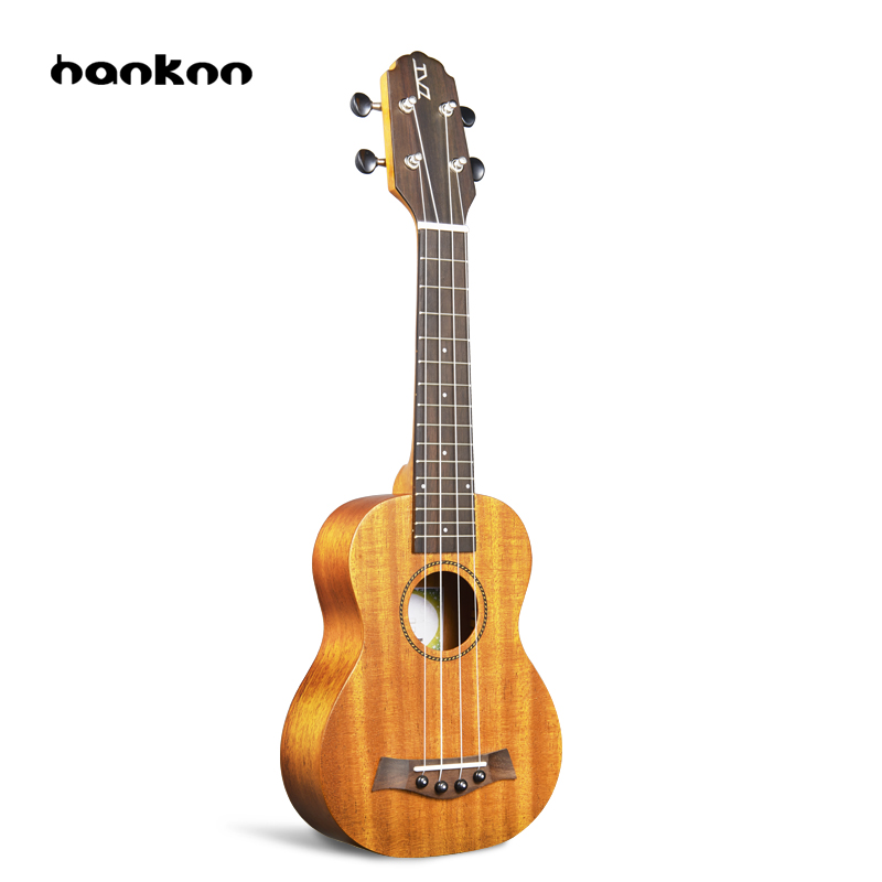 Hanknn 21 inch Ukulele Guitar Soprano Mahogany 4 Strings Round-angle Hawaii Ukulele Guitar Ukelele Acoustic Musical Instruments 26 inchtenor ukulele guitar handcraft made of mahogany samll stringed guitarra ukelele hawaii uke musical instrument free bag