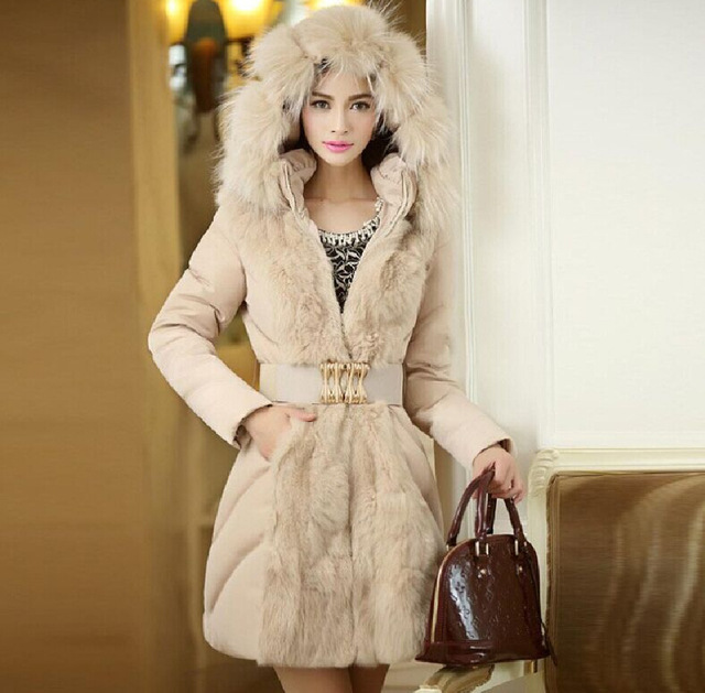 Campera Mujer Invierno 2015 Winter Coat Women Fashionable Jackets And Coats Long Parkas Ladies Fur Collar Outerwear