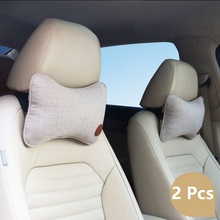 Car Neck Pillows Headrest Breathable Vehicular Seat Car-styling Accessories