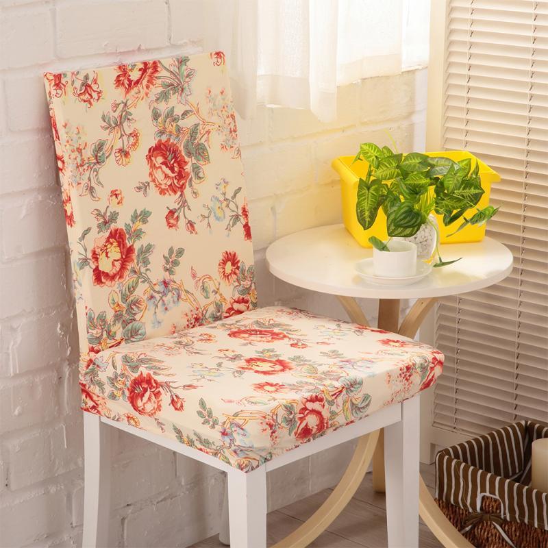 Fundas de silla de tela de spandex de poliéster para comedor Fundas - Textiles para el hogar