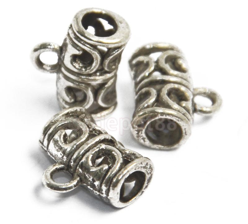 50pcs Antique Silver Hollow bail beads Free Shipping ...
