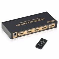 STEYR 4x1 HDMI Switch 4Kx2K Powered 4 Way HDMI Switcher With IR Remote Control Support HDMI