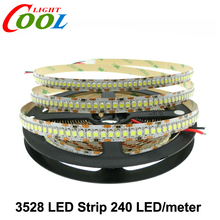 LED Strip 3528 240 LEDs/meter DC12V High Brightness 3528 Flexible LED Light 5m/lot.