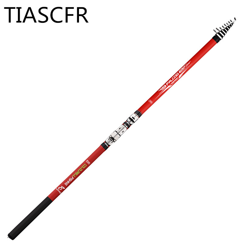Image 2 - Portable rotary fishing 3.6M4.5M5.4M6.3M fishing rod tough carbon fiber M power telescopic travel sea boat rock fishing rod-in Fishing Rods from Sports & Entertainment