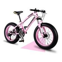 Snowy mountain bike 20 Polegada 4.0 pneu adulto velocidade variável fora de estrada praia icycle