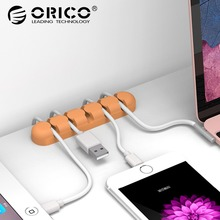 ORICO CBS5 Cable Holder Five Color Silica Gel Material Tidy Wire Cable Winder Organizer Desktop Clips