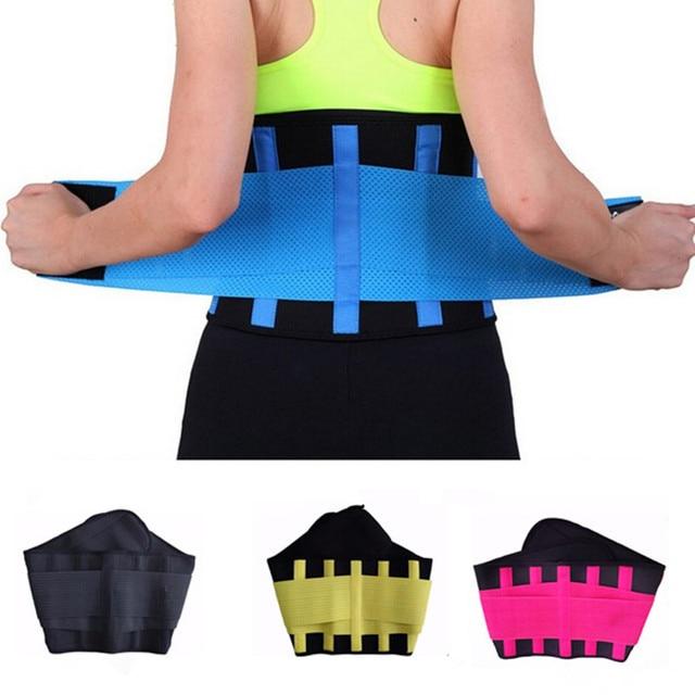 Lumbar Back Waist Support Brace Belt Waist Training Corset Back Fitness Women Waist Support Sweat Slim Belt 2019 3
