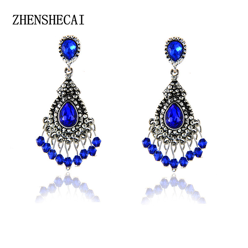 3febc3d27e US $0.87 49% OFF|Fashion earrings women statement luxury crystal drop  Earring for women girl boucle d'oreille push back Jewelry wholesale  e0231-in ...