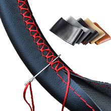 New wear resistant font b Car b font Steering Wheel Covers Leather Braid on the Steering
