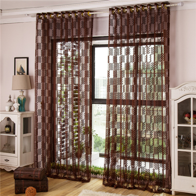Buy modern style fashion design tulle Contemporary drapes window treatments