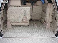 Set completo de esteras para maletero + alfombrillas para puerta trasera para Toyota Land Cruiser 200 7 asientos 2020 2007 alfombrillas de revestimiento de maletero impermeables trunk mat -