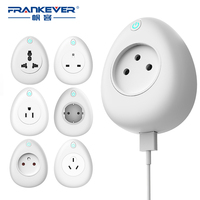 FrankEver Smart Socket 16A with Power Monitoring US EU UK India Israel WiFi Plug Voice Remote Control Work with Alexa Tuya App