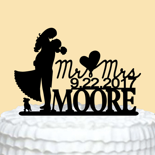 Wedding Cake Topper Bride and Groom,Personalized Wedding Cake Topper ...