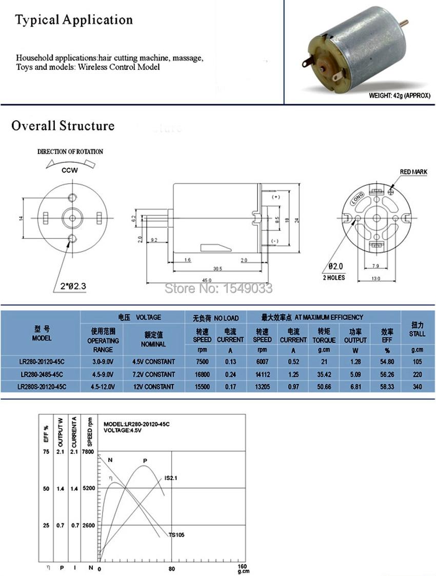 New 5pcs DC 3V 4000RPM High speed motor DC 6V 7900RPM Low torque DC ...