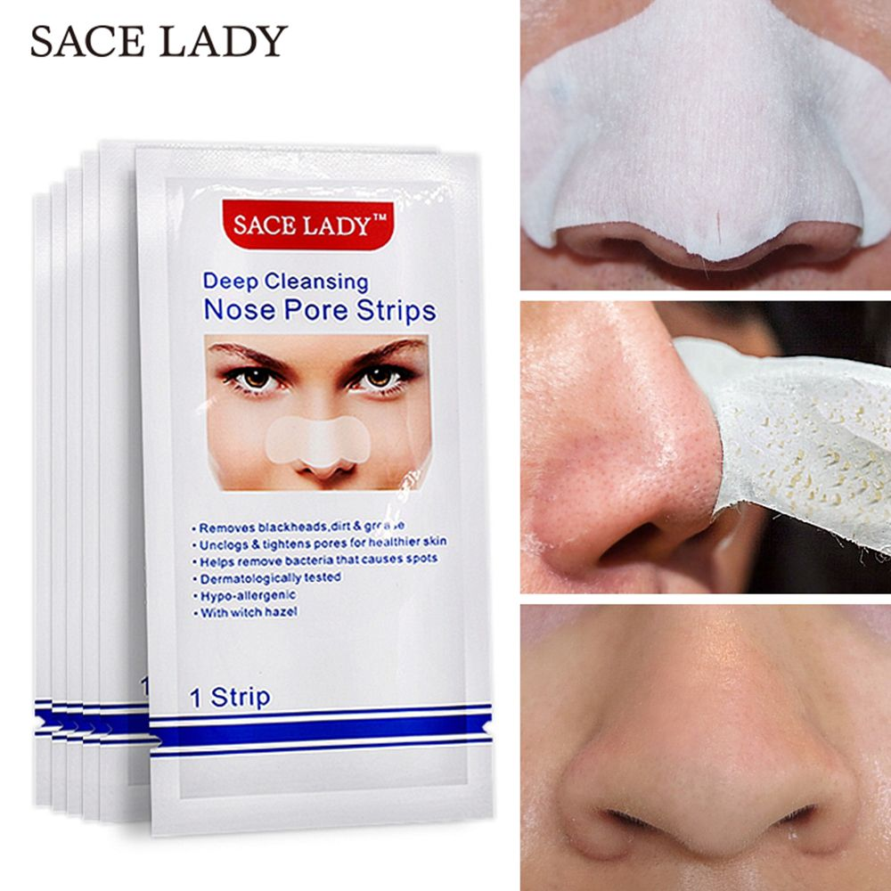 SACE LADY Blackhead Remover Mask Nasal Strips Black Head Nose Dot Spot Peel Off Sticker Face Acne Whitehead Pore Cleaner