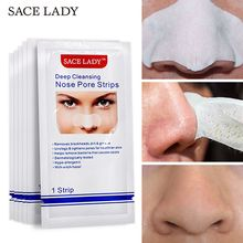 SACE LADY Blackhead Remover Mask Nasal Strips Black Head Nose Dot Spot Peel Off Sticker Face Acne Whitehead Pore Cleaner disaar black mask nose strips blackhead remover acne treatment peeling mask for face masks pore strips anti black head mask 1pcs