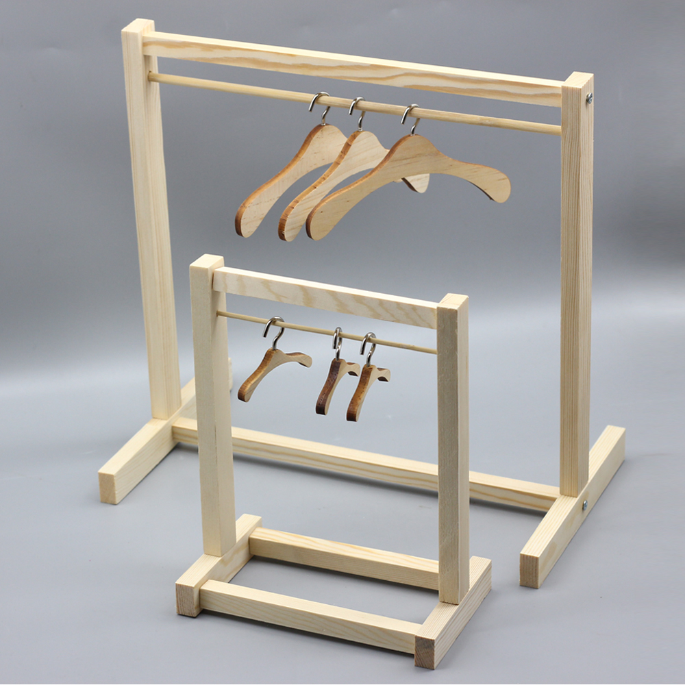 Free Shipping 1/6 1/3 1/4 <font><b>1/8</b></font> 1/12 <font><b>BJD</b></font> doll Furniture Accessories Wooden Shelf <font><b>clothes</b></font> Hanger for barbie Blyth dolls Toy image