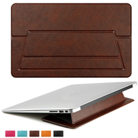 Pu Leather Laptop Cooling Stand Holder High Quality Notebook Tablet Stand For Macbook For Hp For