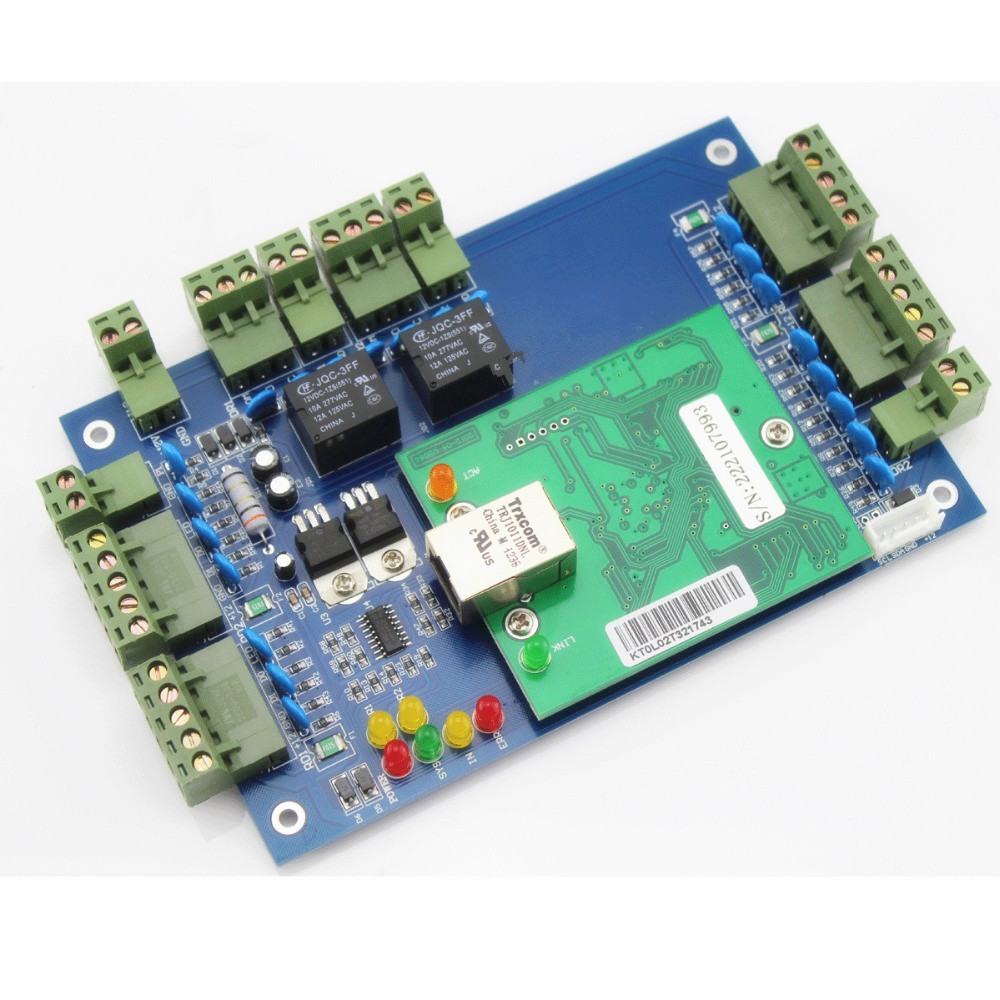 High Quality TCP/IP security equipment two doors wiegand access control board for two doors wiegand 26 input