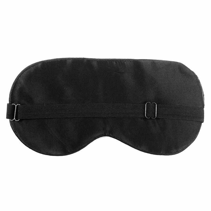 1 ADET Yeni Saf Ipek Uyku Göz Maskesi Yastıklı Gölge Kapak Seyahat Relax Yardım