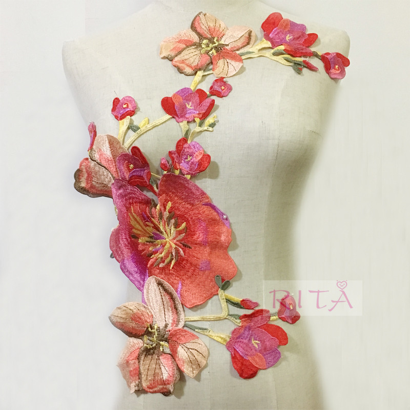 1 Pc Flower Embroidery / Applique Water soluble Cloth