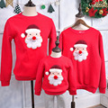 Family Matching Clothing Soft Cotton T-Shirt Family Matching Clothes Christmas Family Look Christmas Family Costumes Color Red
