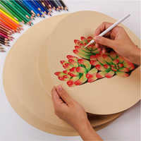 50PCS Kraft Sketch Paper 200/G Hand Painting Creative Sketch Paper Card Postcard for Sketch Drawing Pencil & Pastel Art Supplies