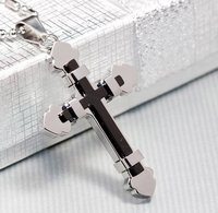 Free Shipping Cross Pendant Necklace 316L Stainless Steel Cross Jewelry Wholesale