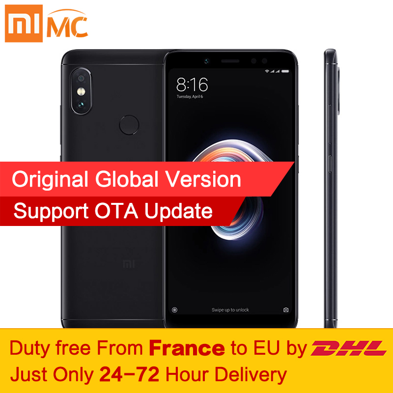 ¡Libre de impuestos! Versión Global Xiaomi Redmi Nota 5 3 GB 32 GB MIUI 9,5 Smartphone Snapdragon 636 Octa Core 5,99