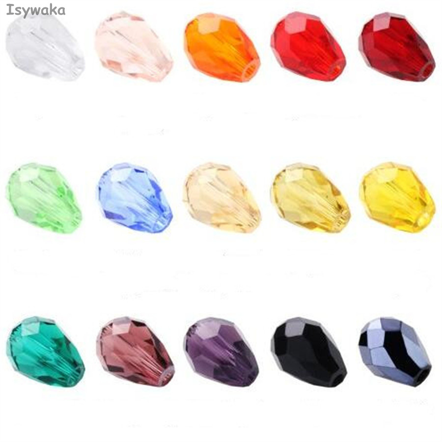 Jewelry & Accessories Isywaka 100pcs Teardrop Beads Austria Crystal Beads Waterdrop Beads Loose Spacer Bead For Diy Jewelry Making,3x5mm,u Pick Colors Excellent Quality