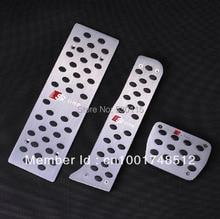 For Audi Q3 A3 TT AT Aluminum metal slip-resistant pedal, foot pedal, Pedal Set Sline Auto 3PCS/Set