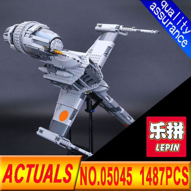 Lepin 05045 Star Genuine 1487pcs  War Series The Starfighter wing Educational Building Blocks Bricks Toys 10227 for Gifts model rollercoasters the war of the worlds