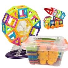 142 pçs mini magnético designer plástico blocos magnéticos conjunto de construção modelo & brinquedo de construção brinquedos educativos crianças presente com caixa