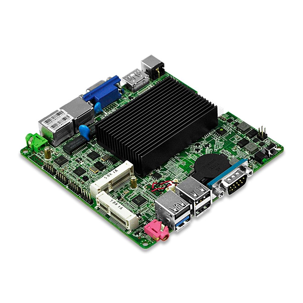 Fanless nano-itx board Q1800G2-P J1800 Dual core Dual Lan 4*COM DC 12V VGA Dual display DC 12*12 CM Win 7 Win 10 Linux WOL PXE