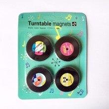 4 шт. MixTape магнит на холодильник ностальгия диск запись кассеты лента холодильник магнитный стикер сообщений доска объявлений забавная игрушка