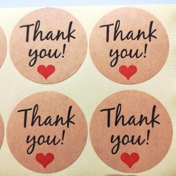 3600 stickers/lot 38mm round THANK YOU Self-adhesive craft paper sealing label sticker, Item No.TK18