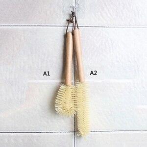 Image 4 - Copo de madeira caneca escova de limpeza lidar com pratos garrafa pan pot escovas de lavagem multifuncional cozinha limpeza acessórios ferramentas